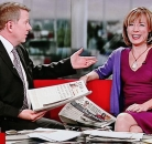 Sian Williams and Bill Turnbull BBC Breakfast paper review ©BBC