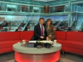 Sian Williams and Bill Turnbull squeze up on Breakfast Sofa ©BBC