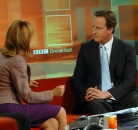Sian Williams and David Cameron ©BBC