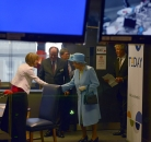Sian Williams shakes hands with the Queen ©Jeff Overs